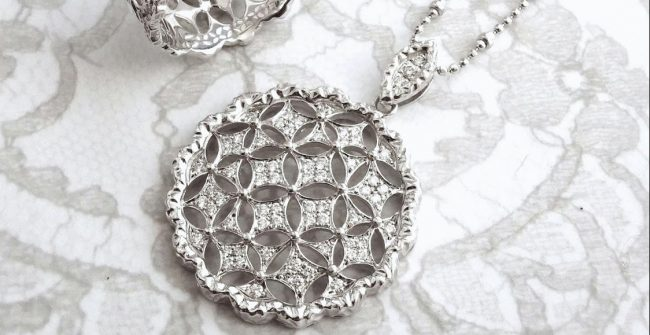 "Order "" Lace Pendant Necklace  """