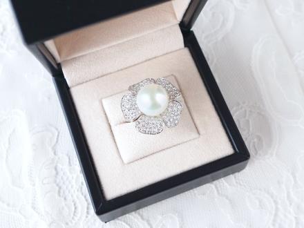 リフォーム(リ・スタイル)した南洋真珠のリングの写真