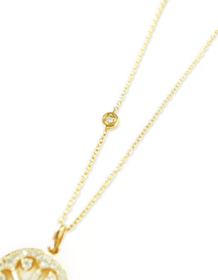 リフォーム(リ・スタイル)したペンダント用に作ったダイヤモンド入りのネックレスの写真
