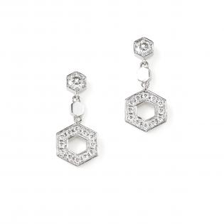銀座ユンヌピエールアンプリュスのオリジナルDECOというダイヤモンドピアスの画像