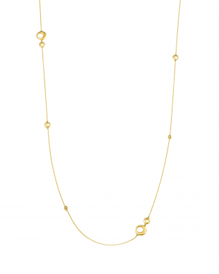 銀座ジュエリーショップのカスタマイズ可能なロングネックレスが素敵だ。