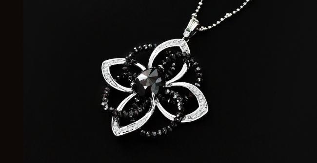 ブラックダイヤネックレス