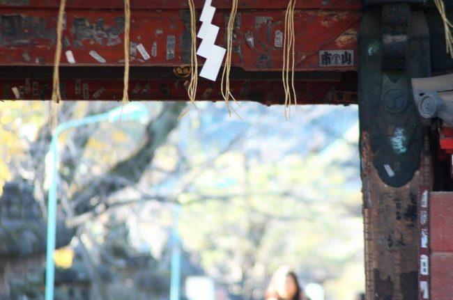 上野東照宮の水舎門の一部を撮った写真