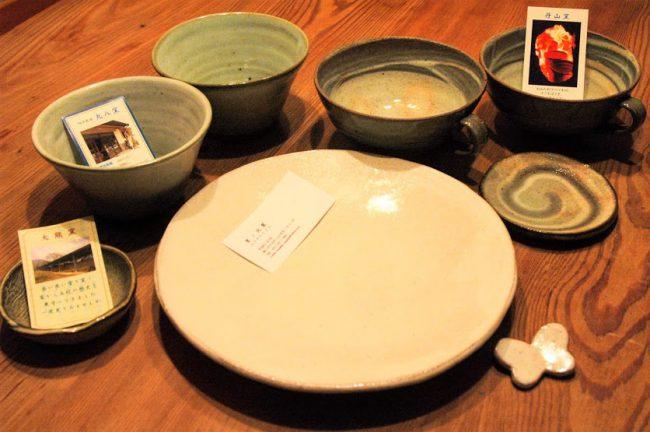 丹波立杭焼きの器の写真