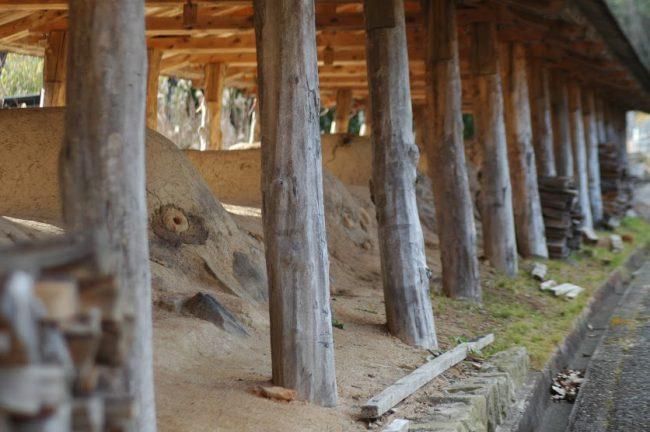 丹波立杭焼の登窯