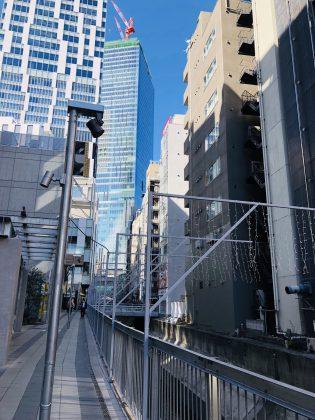 渋谷ストリーム地区の町並みです。