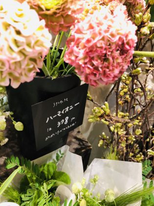 銀座ジュエリーサロンの花を買うフラワーショップのお花です。