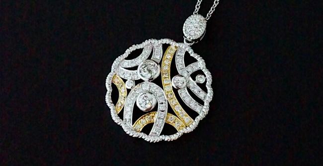 ダイヤモンドペンダントネックレス