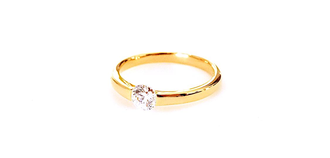婚約指輪を持ち込まれてのリフォームになりました