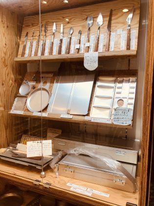 銀座月光荘オリジナル画材道具。