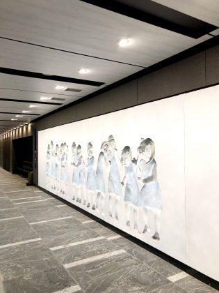 虎ノ門駅ホームにあるアート作品です。