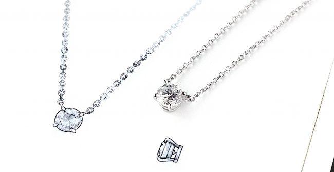 記念のダイヤモンドネックレス