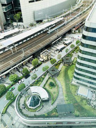 有楽町交通会館の屋上庭園です。