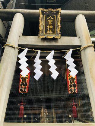 銀座8丁目にひっそりと佇む神社です。